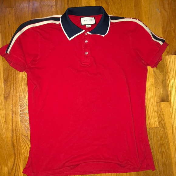 5a43a425 Gucci Shirts | Red Stripe Polo Shirt From | Poshmark